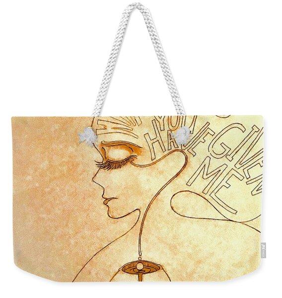 Gifts Of The Mind Weekender Tote Bag
