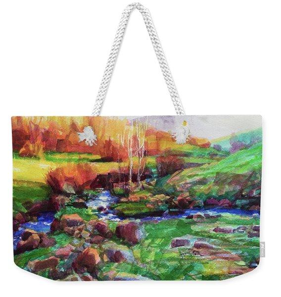 Gilded Hillside Weekender Tote Bag