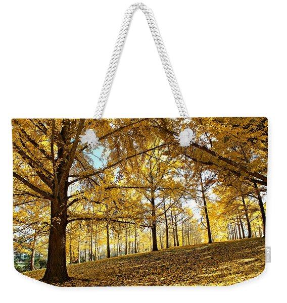 Ginkgo Grove Weekender Tote Bag