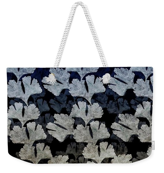 Ginko Leaf Pattern Weekender Tote Bag