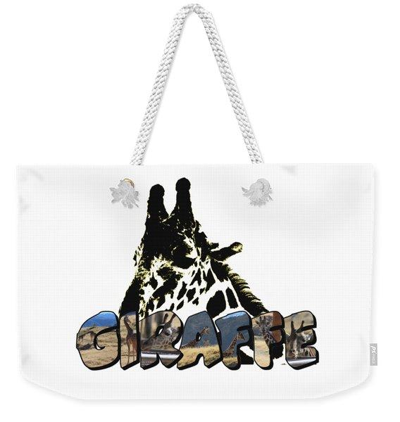 Giraffe Big Letter Weekender Tote Bag