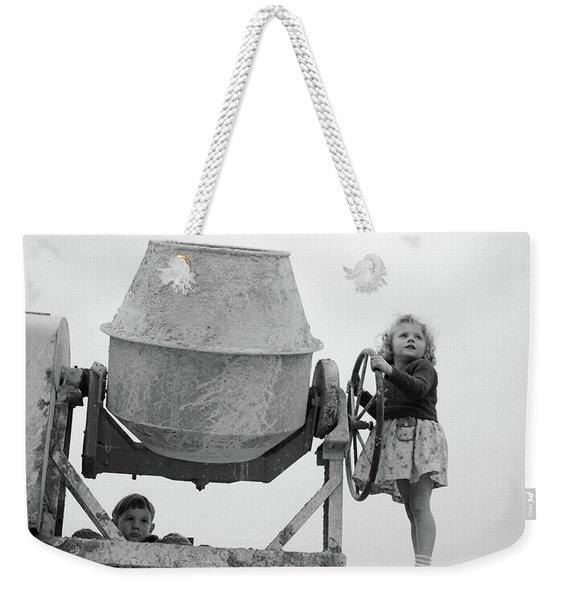 Girl At The Helm Weekender Tote Bag