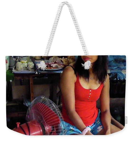 Girl In A Shop Weekender Tote Bag