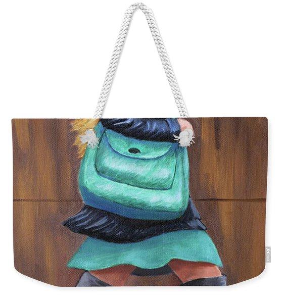 Girl Walking Weekender Tote Bag