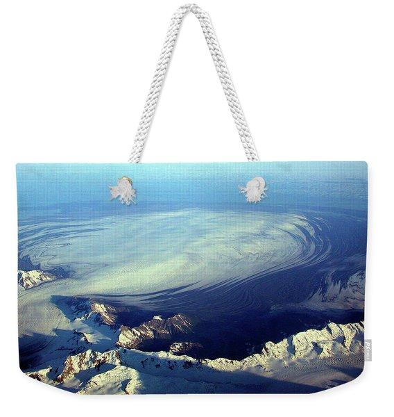 Glacier Pushes Out Weekender Tote Bag