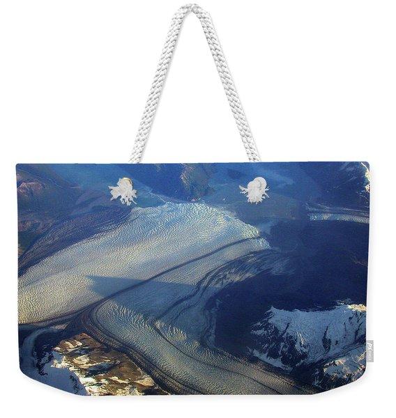 Glaciers Converge Weekender Tote Bag