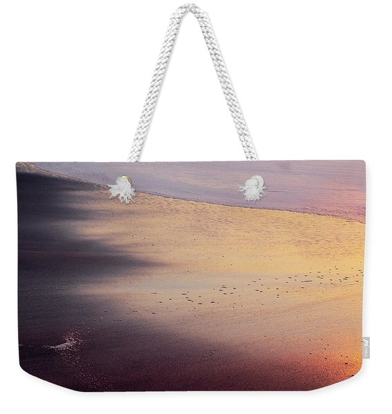 Weekender Tote Bag featuring the photograph Gleneden Glow by Whitney Goodey