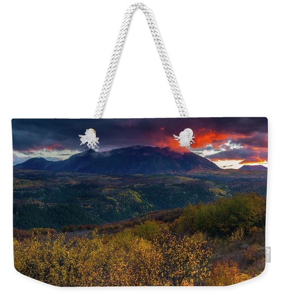 Weekender Tote Bag featuring the photograph Glimpse Of Heaven by John De Bord