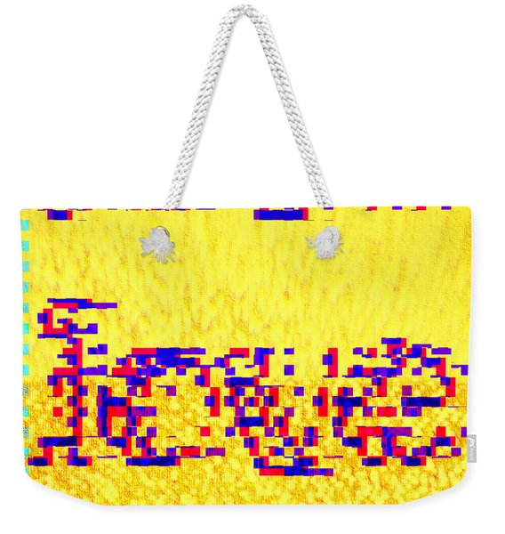 Weekender Tote Bag featuring the digital art Glitched Love by Bee-Bee Deigner