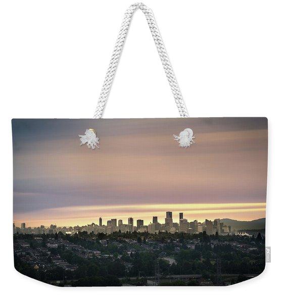 Gloden Sky On Vancouver Weekender Tote Bag