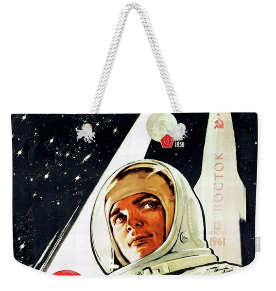 Glory To Soviet Cosmonaut Weekender Tote Bag