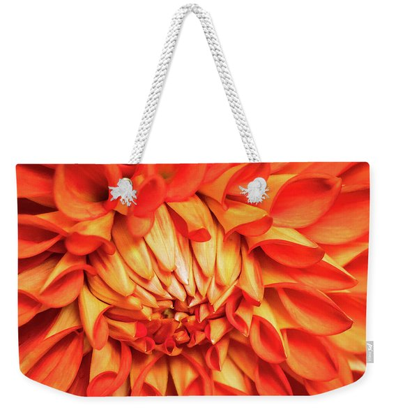 Weekender Tote Bag featuring the photograph Glowing by Robin Zygelman