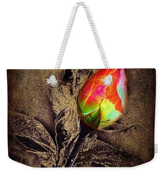Glowing Rose Weekender Tote Bag