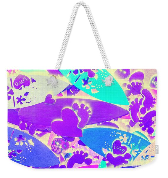 Gnarly Wipeout Weekender Tote Bag