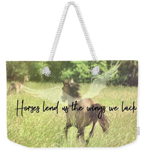 Go Flying Quote Weekender Tote Bag