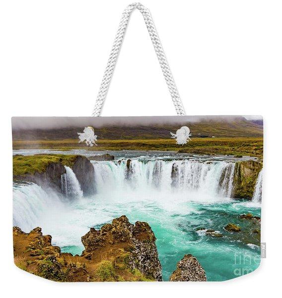 Godafoss Waterfall, Iceland Weekender Tote Bag