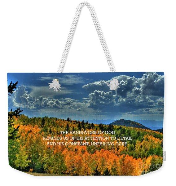 God's Handiwork Weekender Tote Bag
