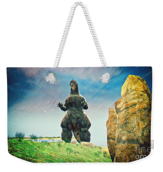 Godzilla Approaches Weekender Tote Bag