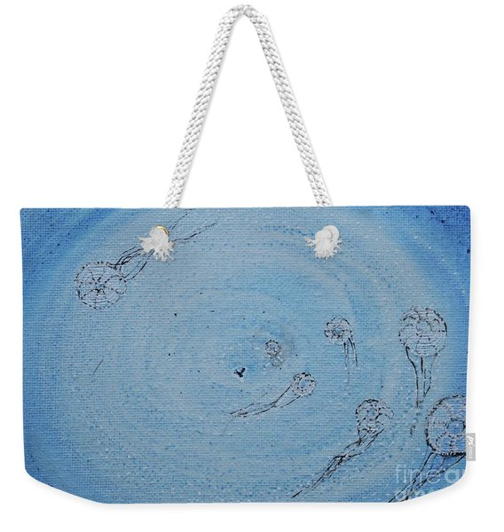 Weekender Tote Bag featuring the painting Going Deeper by Kim Nelson