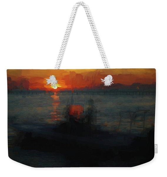 Going Fishin' Weekender Tote Bag