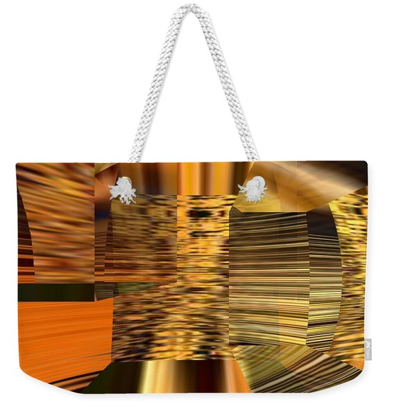 Weekender Tote Bag featuring the digital art Gold  by A z Mami