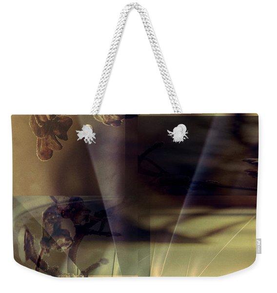 Gold Brown Tan Abstract Weekender Tote Bag