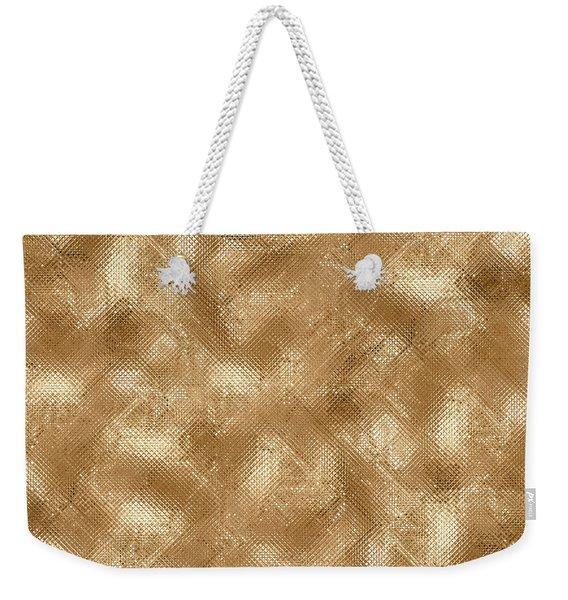 Gold Metal  Weekender Tote Bag