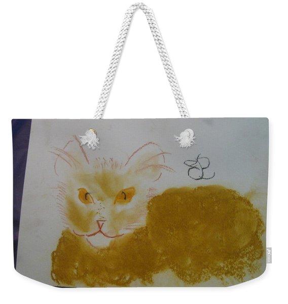 Golden Cat Weekender Tote Bag