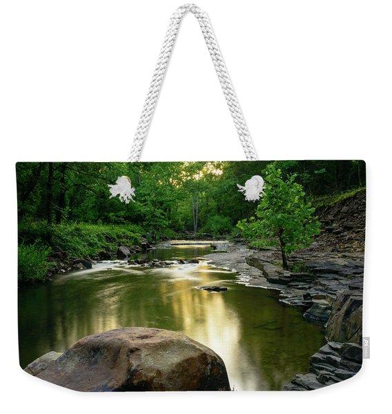 Golden Creek Weekender Tote Bag