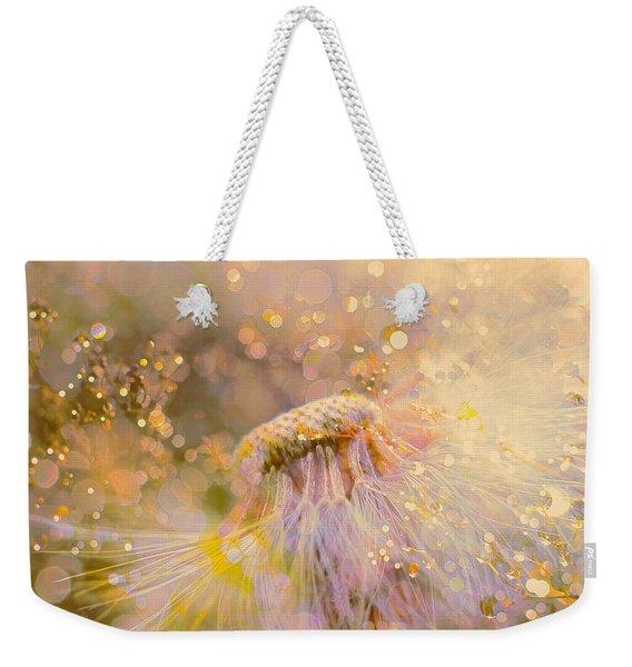 Golden Dandelion Weekender Tote Bag