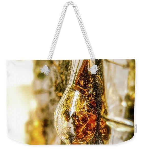 Golden Drop Weekender Tote Bag