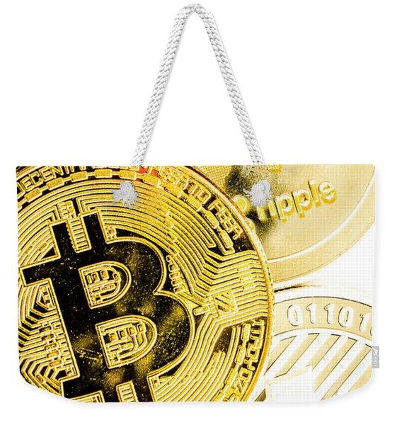 Golden Exchange Weekender Tote Bag