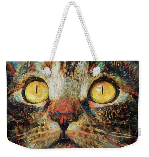 Golden Eyes Dreaming Weekender Tote Bag