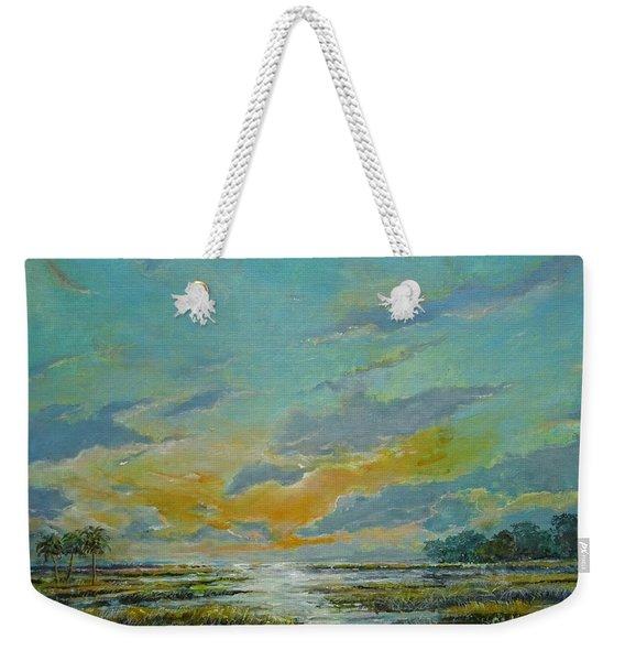 Golden Florida Dusk Weekender Tote Bag