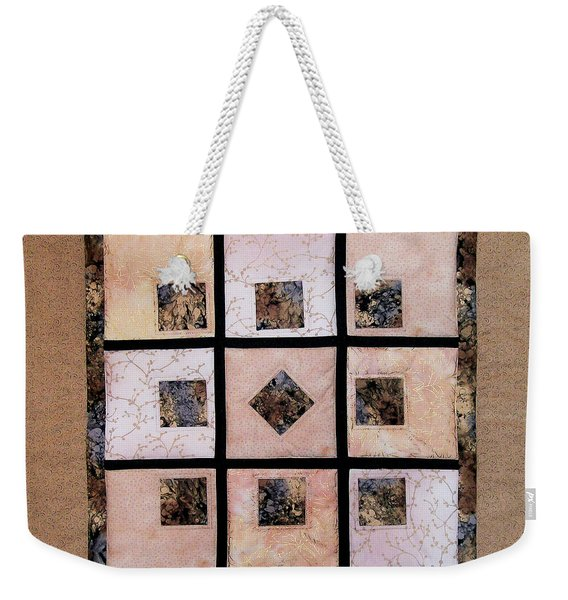 Golden Frost On The Window Weekender Tote Bag