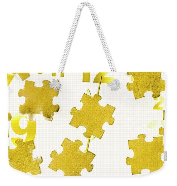 Golden Gauge Weekender Tote Bag