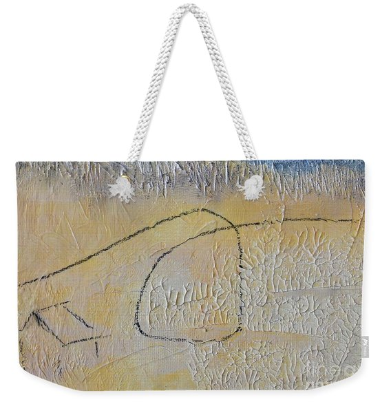 Weekender Tote Bag featuring the painting Golden Hour by Kim Nelson