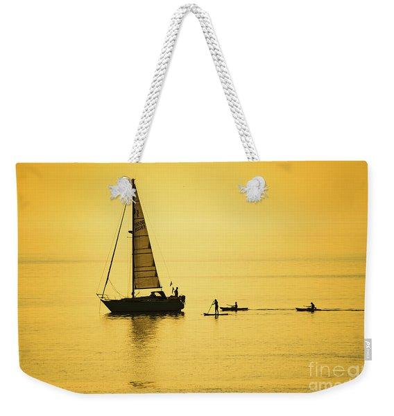 Golden Hour On Cardigan Bay, Aberystwyth Weekender Tote Bag