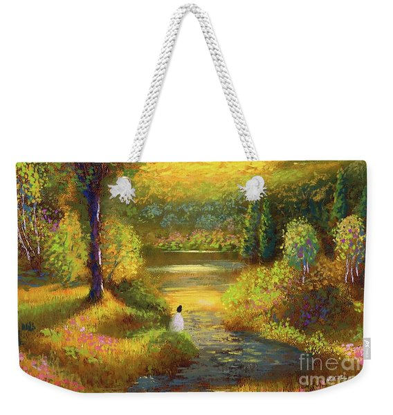 Golden Peace Weekender Tote Bag