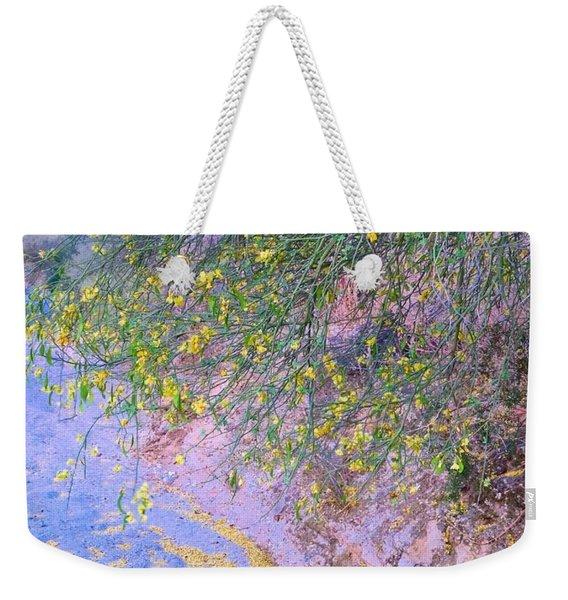 Golden Petals In A Desert Wash Weekender Tote Bag