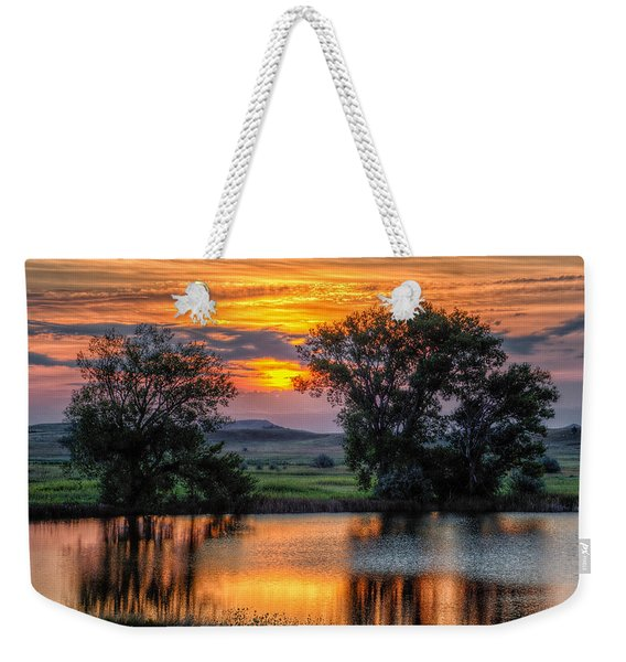 Golden Pond At 36x60 Weekender Tote Bag