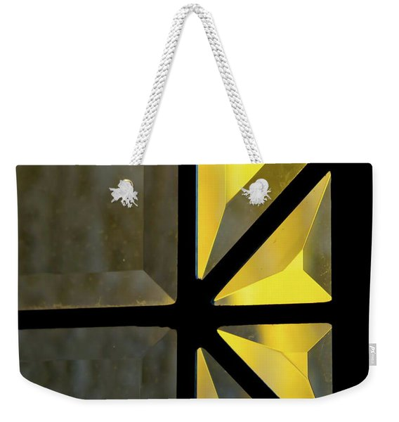 Golden Prism Abstract Weekender Tote Bag