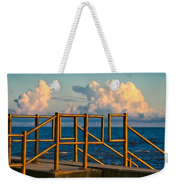 Golden Railings Weekender Tote Bag
