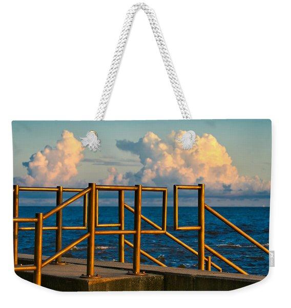 Golden Railings Weekender Tote Bag