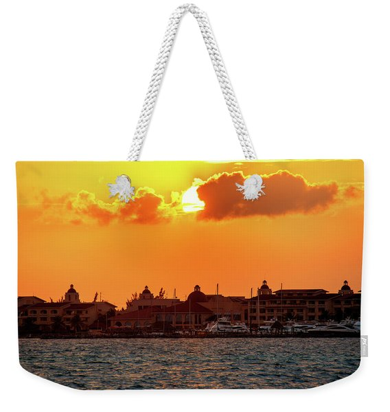 Golden Sky In Cancun Weekender Tote Bag