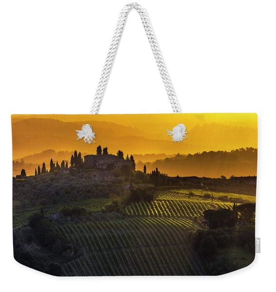 Golden Tuscany Weekender Tote Bag