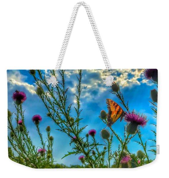 Golden Wings Weekender Tote Bag