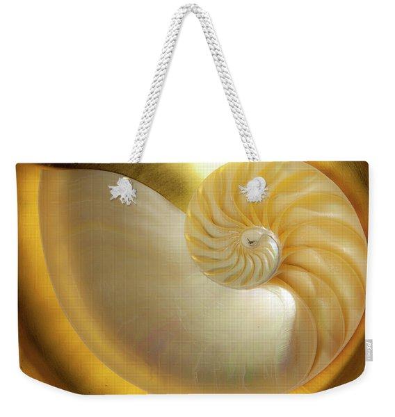 Golden_nautilus_0692 Weekender Tote Bag