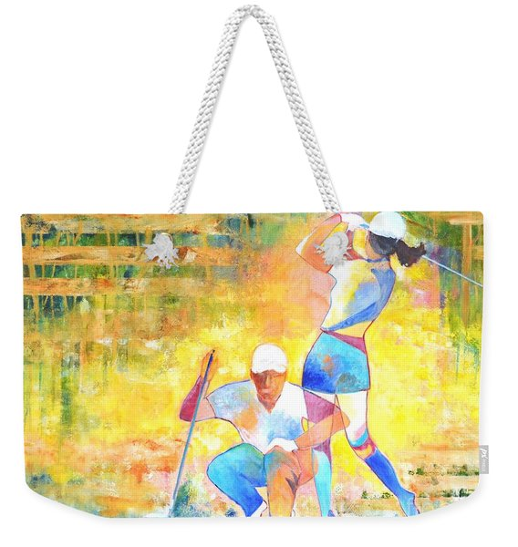 Golf Maniac Weekender Tote Bag