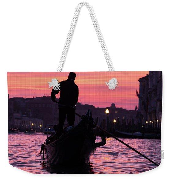 Gondolier At Sunset Weekender Tote Bag